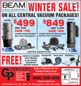Winter Sale on Vacuums