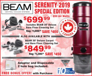Jan 2020 Specials on Central Vac Units