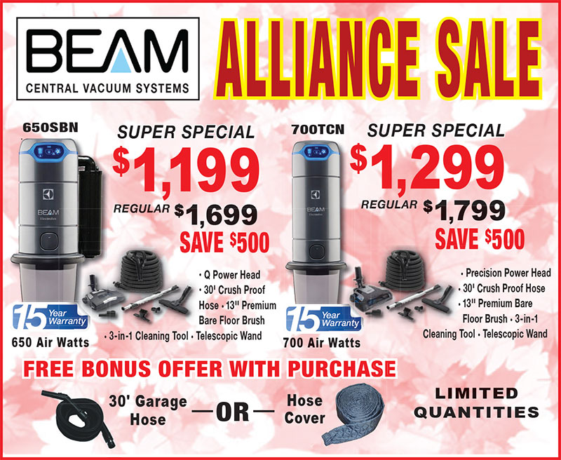 Beam Central Vacuum Systems Sale July