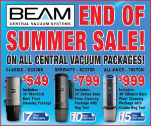 Sept 10 End of Summer Sale